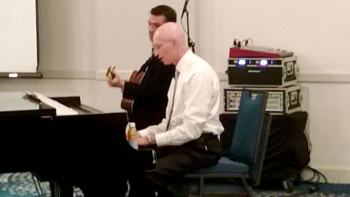 Dr. Steinberg providing some musical entertainment as part of the years NJAFPA Spring Trainging Institute